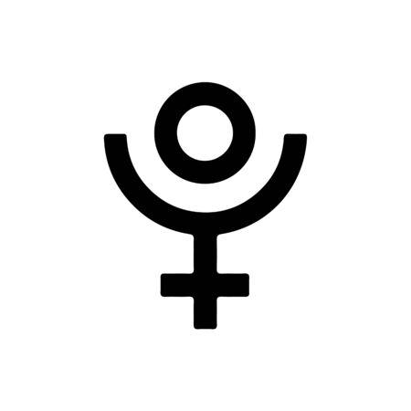 Pluto symbol. Vector icon. Фото со стока