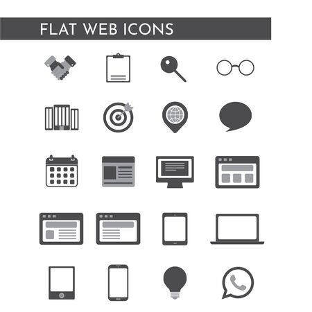 Web icons for business, finance and communication. Vector Illustration. 版權商用圖片