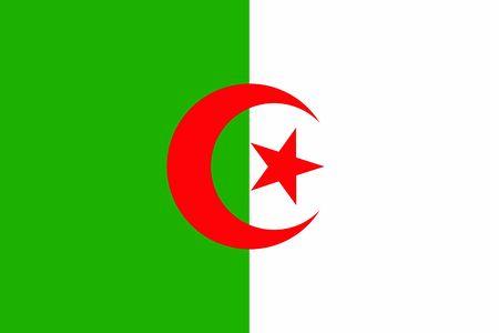 Flag of Algeria. Vector Illustration. Zdjęcie Seryjne
