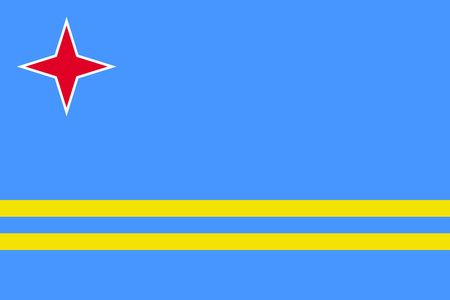 Flag of Aruba. Vector Illustration. Standard-Bild - 128766748