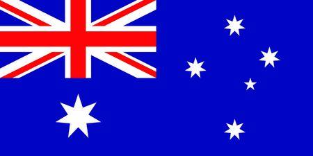 Flag of Australia.Vector Illustration. 写真素材