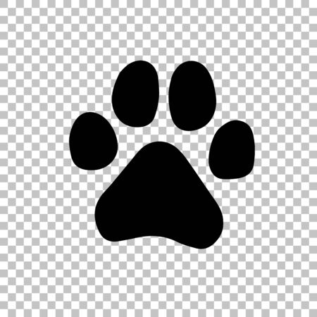 Paw Prints. Logo. Vector Illustration. Isolated vector Illustration. Black on White background.