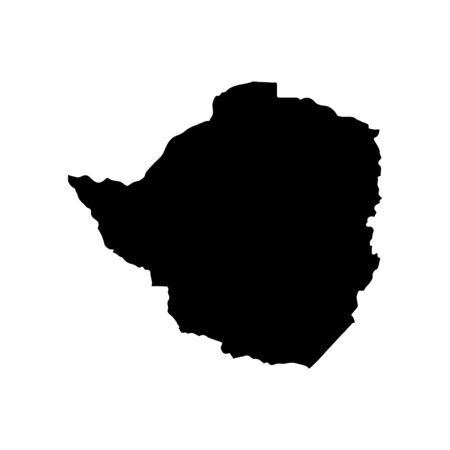 Vector map Zimbabwe. Isolated vector Illustration. Black on White background.