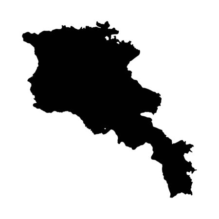 Vector map Armenia. Isolated vector Illustration. Black on White background.