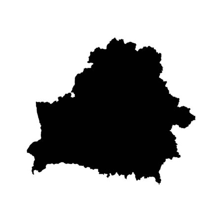 Vector map Belarus. Isolated vector Illustration. Black on White background.