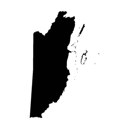 Vector map Belize. Isolated vector Illustration. Black on White background.
