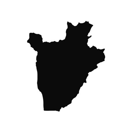 Vector map Burundi. Isolated vector Illustration. Black on White background.