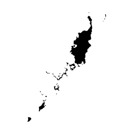 Vector map Palau. Isolated vector Illustration. Black on White background. Stock fotó - 129628204