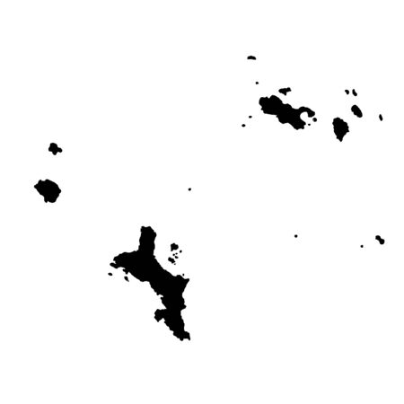 Vector map Seychelles and Victoria. Isolated vector Illustration. Black on White background.