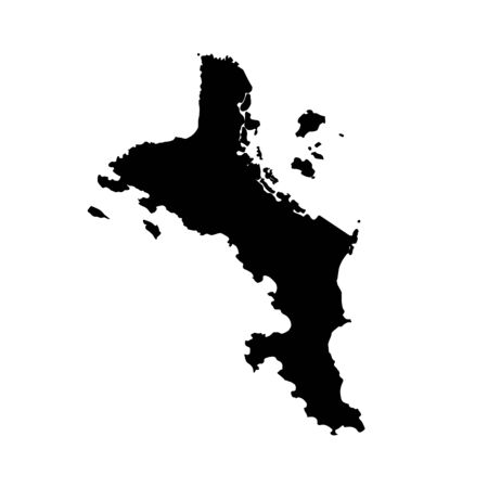 Vector map Seychelles. Isolated vector Illustration. Black on White background. Фото со стока