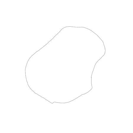 Vector map Nauru. Isolated vector Illustration. Black on White background.