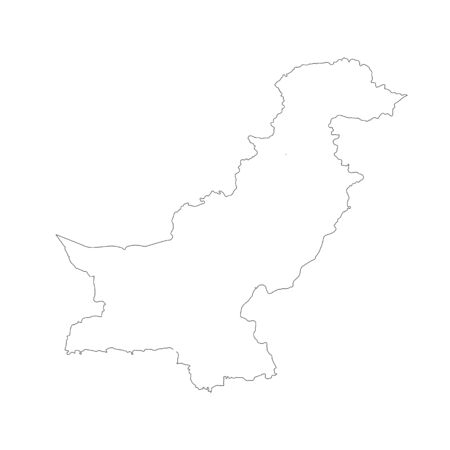 Vector map Pakistan. Isolated vector Illustration. Black on White background. 写真素材