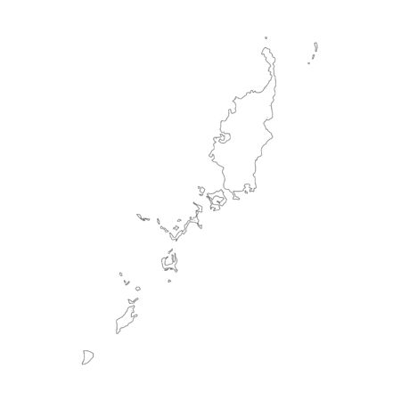 Vector map Palau. Isolated vector Illustration. Black on White background.