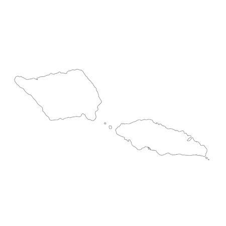 Vector map Samoa. Isolated vector Illustration. Black on White background. Фото со стока - 129628587