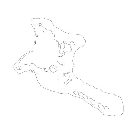 Vector map Kiribati. Isolated vector Illustration. Black on White background. Stock fotó - 129628652
