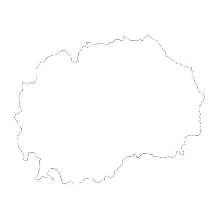Vector map Macedonia. Isolated vector Illustration. Black on White background.