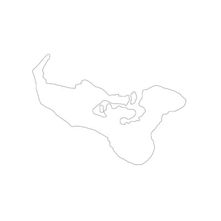 Vector map Tonga. Isolated vector Illustration. Black on White background.