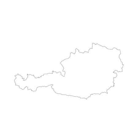 Vector map Austria. Isolated vector Illustration. Black on White background. 写真素材