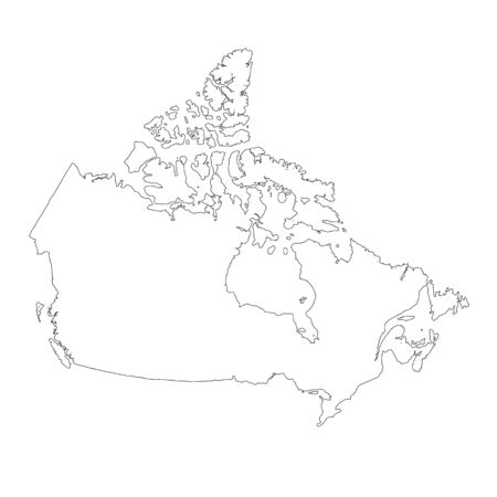 Vector map Canada. Isolated vector Illustration. Black on White background. Фото со стока - 129628970