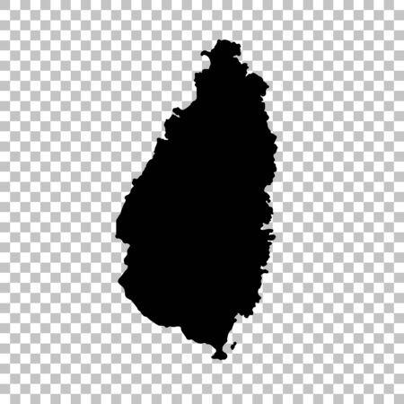 Vector map Saint Lucia. Isolated vector Illustration. Black on White background. 写真素材