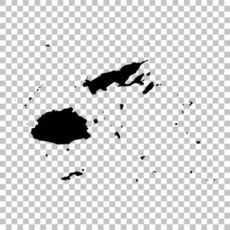 Vector map Fiji. Isolated vector Illustration. Black on White background. Фото со стока - 129629515