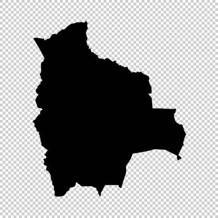 Vector map Bolivia. Isolated vector Illustration. Black on White background. Reklamní fotografie