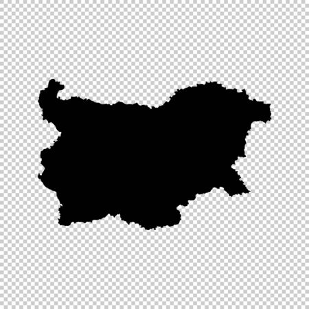 Vector map Bulgaria. Isolated vector Illustration. Black on White background.