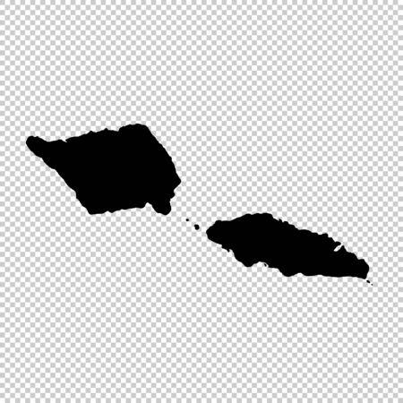 Vector map Samoa. Isolated vector Illustration. Black on White background. Фото со стока