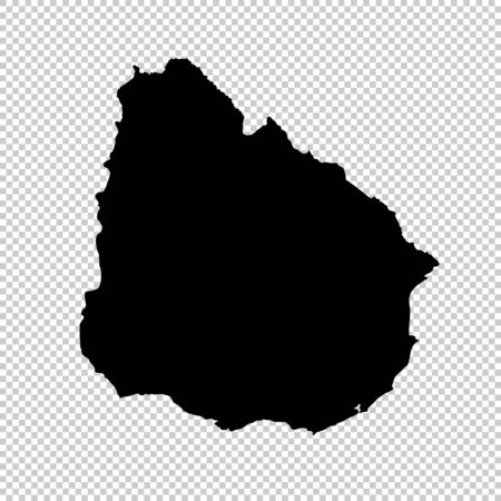 Vector map Uruguay. Isolated vector Illustration. Black on White background. Imagens