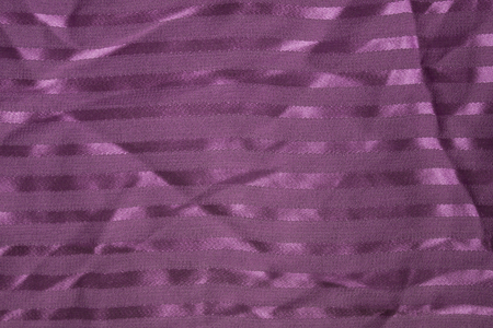 Light lilac background made from natural silk. Transverse strips of matte texture on a shiny basis. An expensive vintage thing.