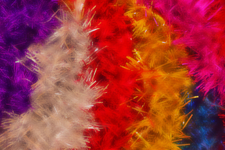 Bright, glittering, festive tinsel. New Year, carnival, merry holiday. Decoration of the room, preparation for celebration, fun.