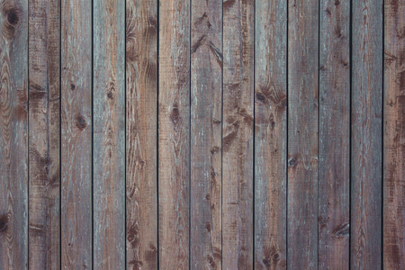 Background of old boards of brown, tightly knit together. Street fence, wooden flooring. Vertical stripes. Banque d'images