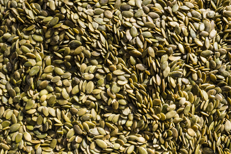 Green seeds lie evenly. Zakroma, an organic farm product. Dietary food, fasting, vegetarian cuisine. Banque d'images