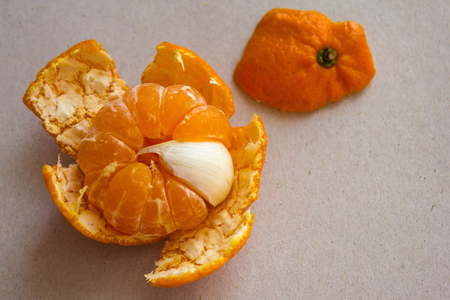 In the sweet mandarin one bitter slice. Scout, a stranger in the team, an insider, a spy. Unpleasant, annoying surprise. View from above.