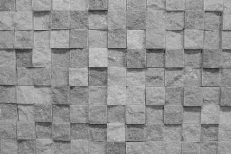 Uneven texture, marble, rough stone. Mosaic puzzle. In black and white.