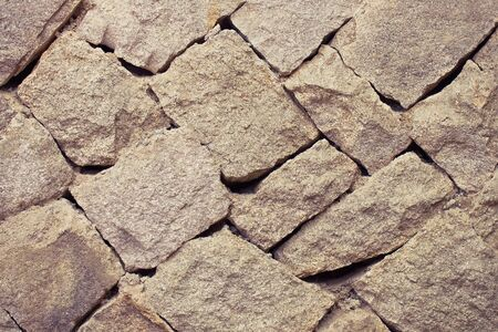 Natural texture, rough stone. The ancient foundation, the fortress. Violet tinting.