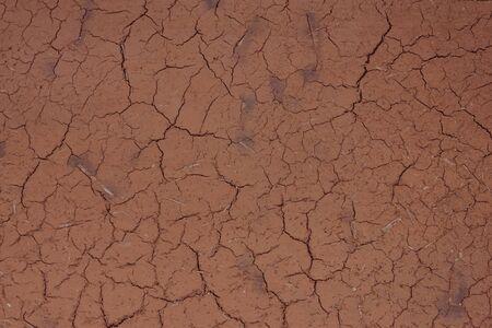 Abstraction, broken lines, cracks. Dry soil, clay, dry season, crop failure. Brown tones.