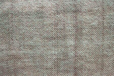 Natural matting, linen. Light shades, green and beige threads. Large weaving, handmade.