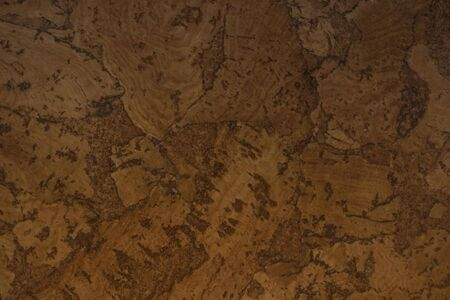 Natural wood, cork. Smooth brown, beige background, abstract illustration. Daylight.