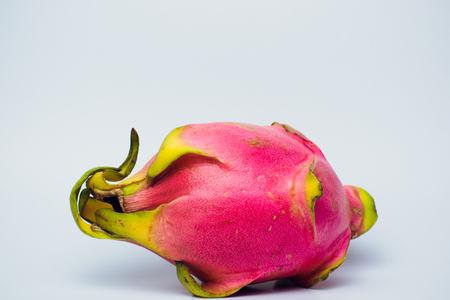 Dragon fruit isolated on white background food
