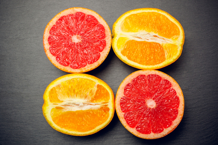 citrus isolated grapefruit orange fruit fresh red