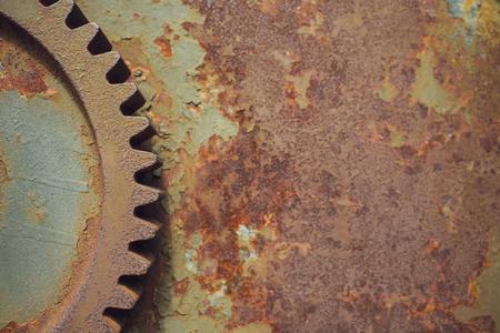 Metallic Rusty industrial machine parts closeup photo. Reklamní fotografie