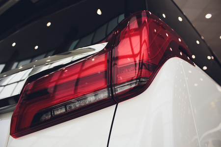 rear car auto in details backlight tail light lamp.