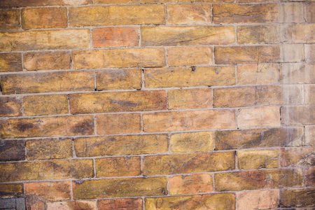 red brick wall in vintage style, brickwork background.
