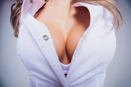 Woman with sexy nurse costume 版權商用圖片