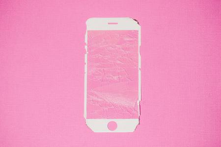 Modern mobile smartphone with broken screen color Reklamní fotografie