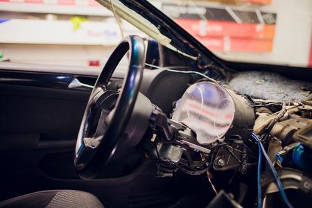 dismantle auto salon. torpedo auto. modern car Stock fotó