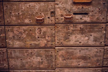 Close up shot of an old ottoman door
