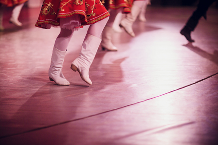Legs of dancing people at the party. Banco de Imagens