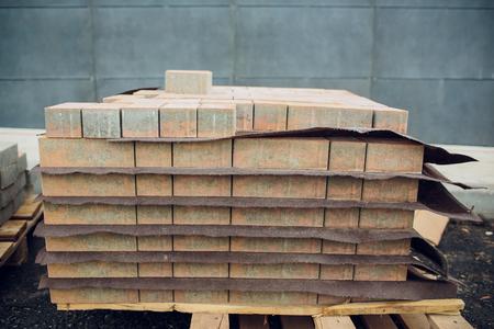 Gray Brick for building in construction site. 版權商用圖片